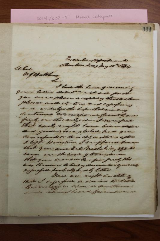 Pendleton Murrah to W. J. Hutchins, May 10, 1864, TSLAC.pdf