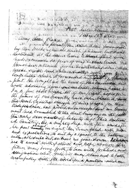 Dudley Avery to Daniel D. Avery May 12, 1865, Avery Family Papers, Records of the Antebellum Southern Plantations, Series J, Part 5, Reel 11, Frame 652-655..pdf