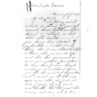 Letter from Cara Taylor Evans to Sarah Avery