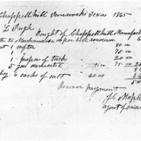 Receipt for Goods Purchased by Richard Pugh with Salt